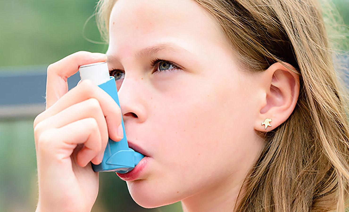 Child using inhaler